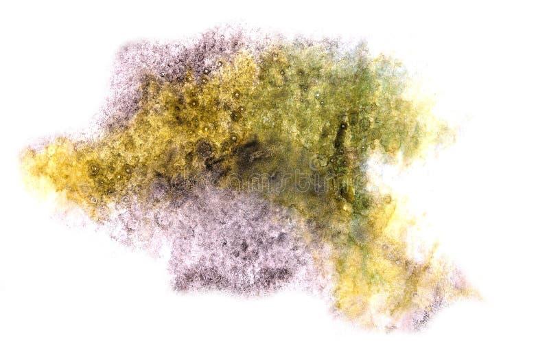 Modern art green,yellow,violet avant-guard artist seamless back. Ground cubism abstract art texture watercolor wallpaper royalty free stock photos