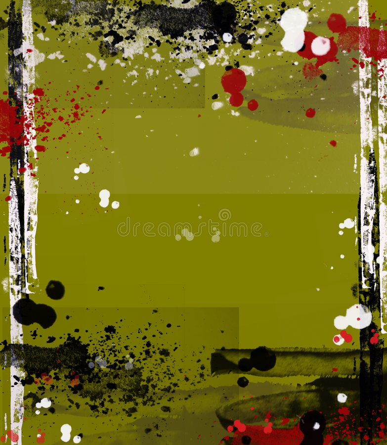 Modern art grungy frame vector illustration
