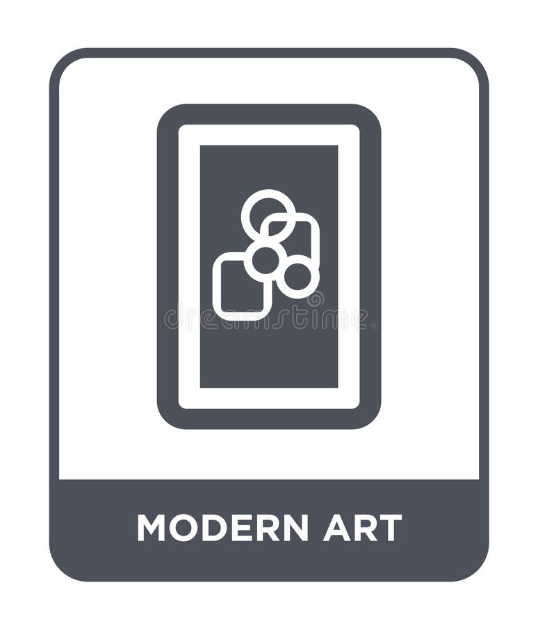Modern art icon in trendy design style. modern art icon isolated on white background. modern art vector icon simple and modern. Flat symbol for web site, mobile stock illustration