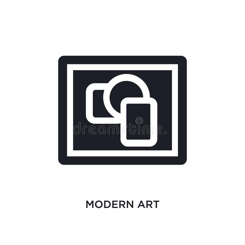 Modern art isolated icon. simple element illustration from museum concept icons. modern art editable logo sign symbol design on. White background. can be use vector illustration
