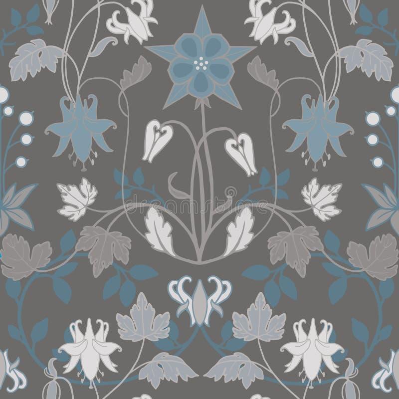 Modern Art Nouveau Tiffany modell royaltyfri illustrationer