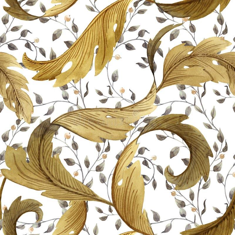 Modern Art Nouveau Tiffany modell stock illustrationer