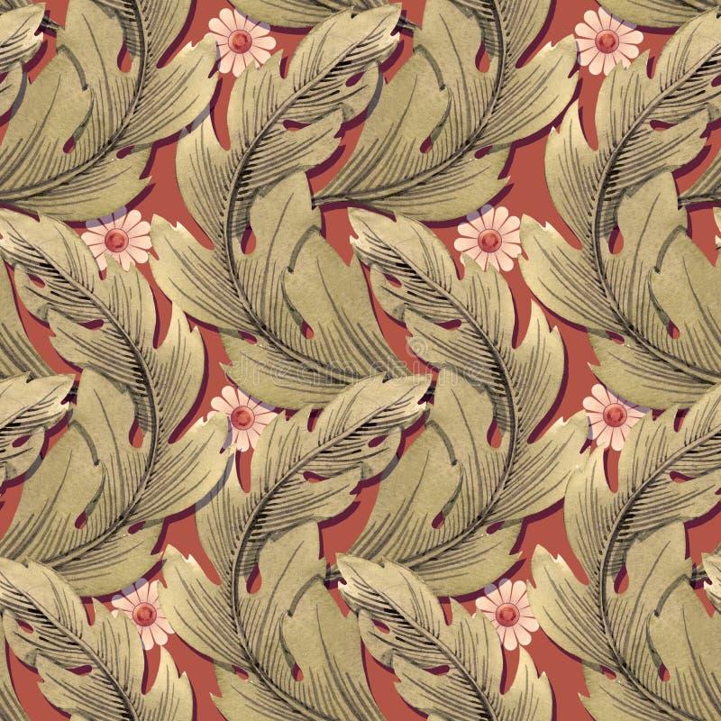 Modern Art Nouveau Tiffany modell vektor illustrationer