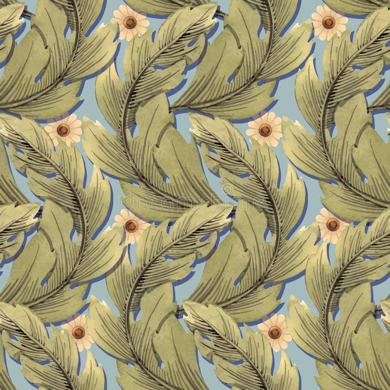 Modern Art Nouveau Tiffany vektormodell stock illustrationer