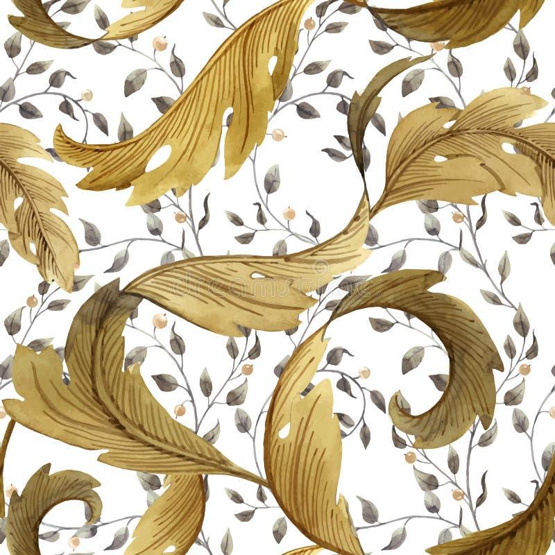 Modern Art Nouveau Tiffany vektormodell vektor illustrationer