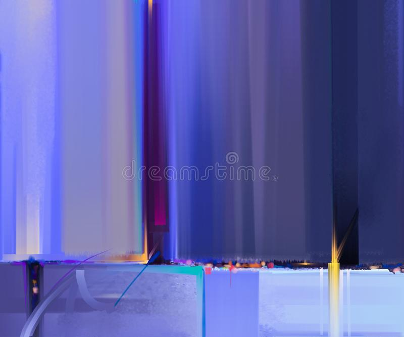Modern art oil paintings with green, blue color. Abstract contemporary art for background stock photography
