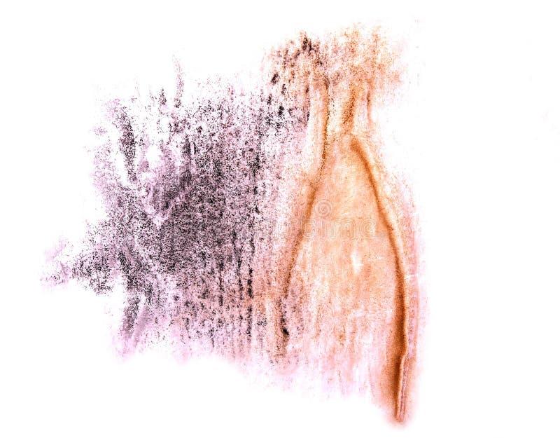 Modern art orange, violet avant-guard artist seamless backgroun. D cubism abstract art texture watercolor wallpaper royalty free stock photos
