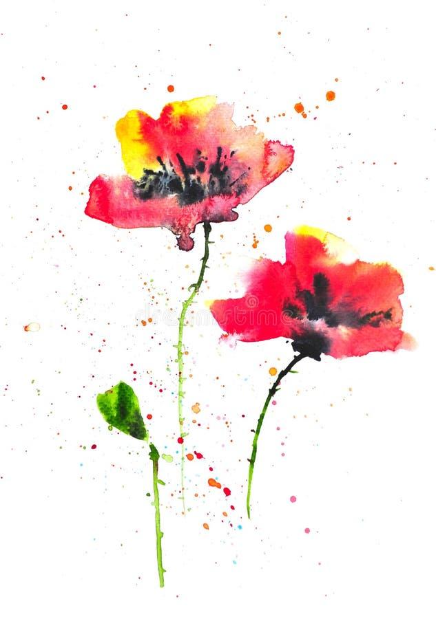 Modern art of poppy flowers watercolor illustrator stock download modern art of poppy flowers watercolor illustrator stock illustration illustration of impressionism mightylinksfo
