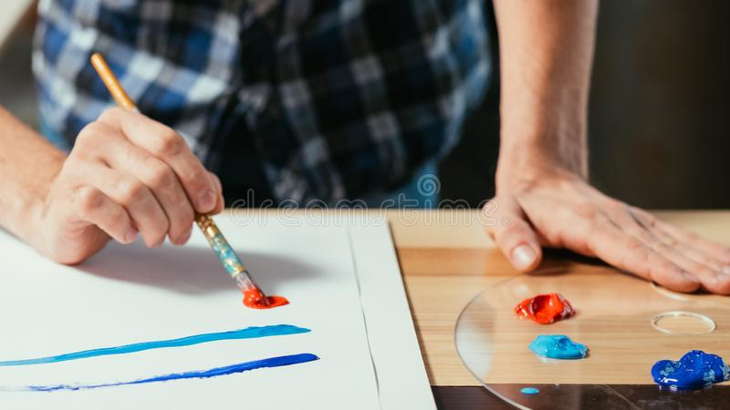 Modern art school skill development painting royalty free stock images