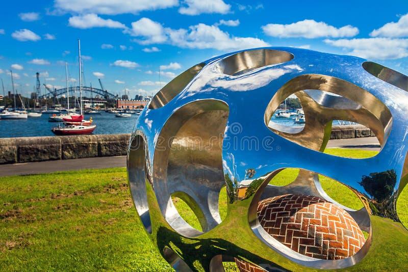Modern art in Sydney Australia stock photo