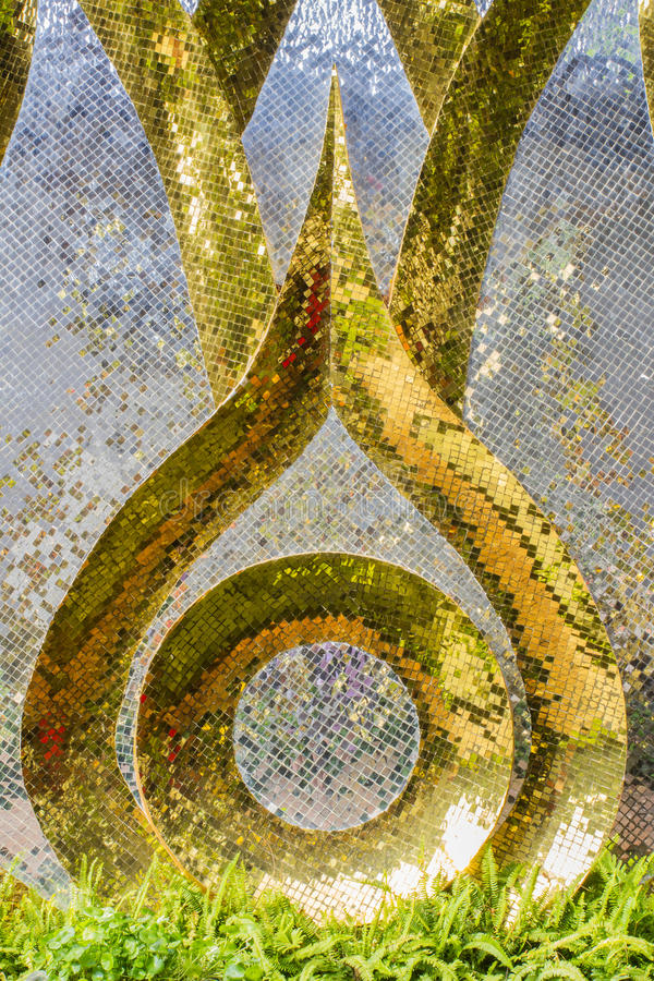 Modern Art On Wall Made By Various Color Of Mosaic Tiles Stock Image ...