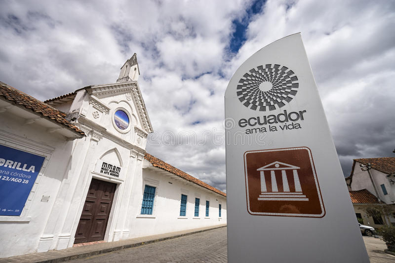 The modern arts building in Cuenca stock photography