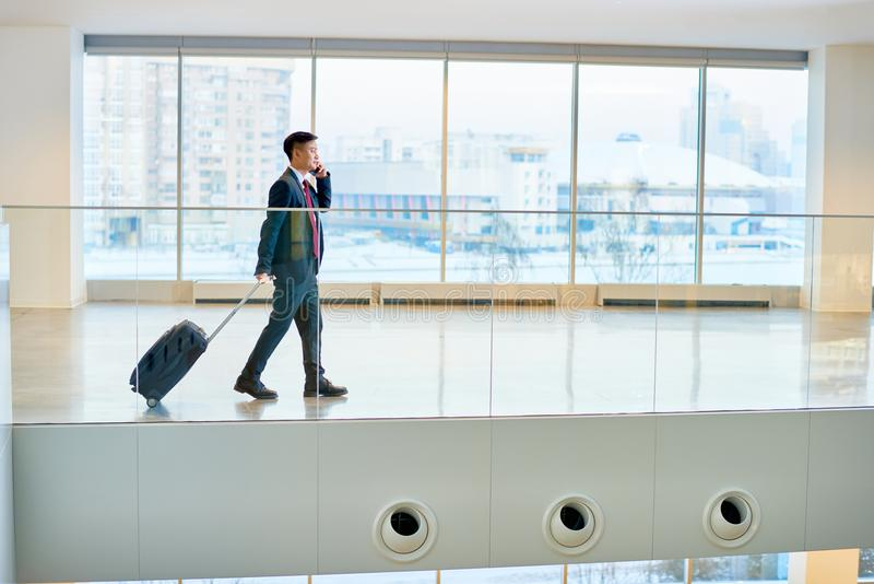 Modern Asian Businessman in Airport stock image