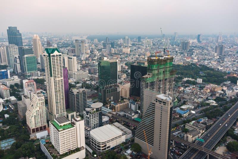 Modern Asian megalopolis cityscape. Aerial view of modern Asian megalopolis cityscape. Bangkok, Thailand stock photo