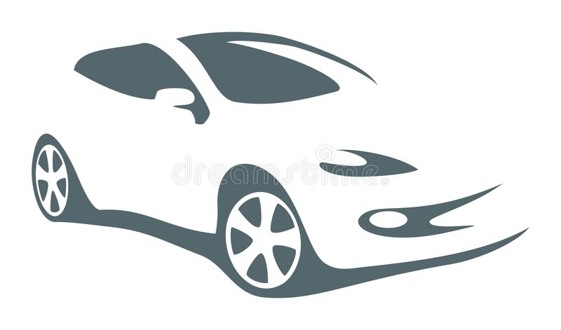 Modern auto vectorsymbool stock illustratie
