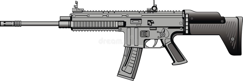 Modern automatisch kanon vector illustratie