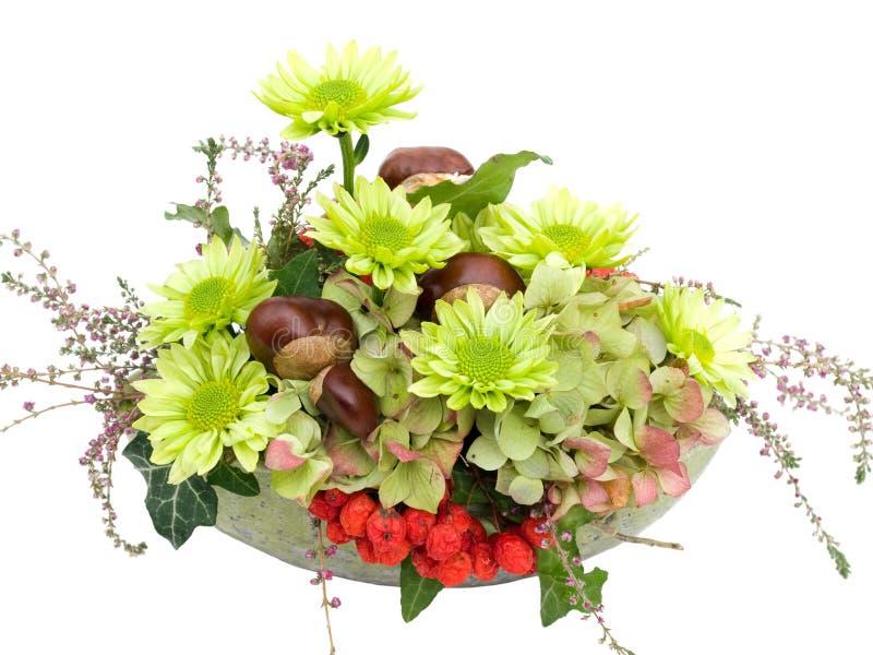 Download Modern Autumnal Flower Arrangement On White Stock Photo - Image: 24858836
