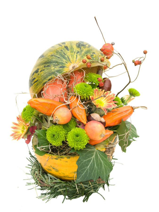Download Modern Autumnal Flower Arrangement On White Stock Photography - Image: 24858852