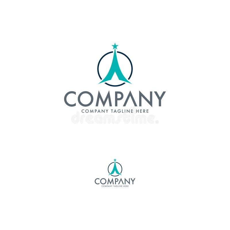 Modern Avontuur Logo Design Template royalty-vrije illustratie