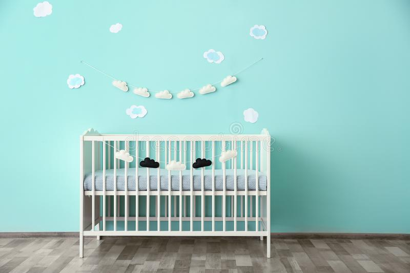 Modern baby room interior royalty free stock images