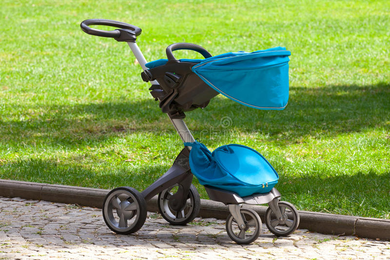 Download Modern baby stroller stock photo. Image of gray, blue - 27000502