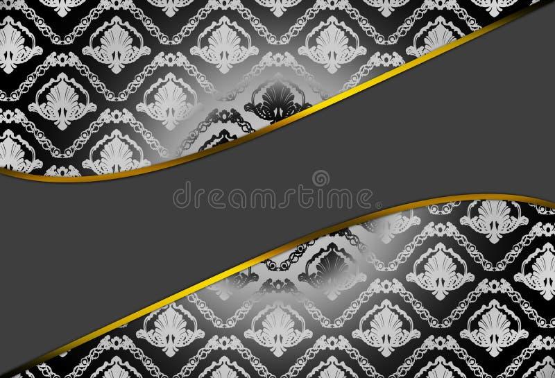 Modern Background With Damask Pattern Stock Photography