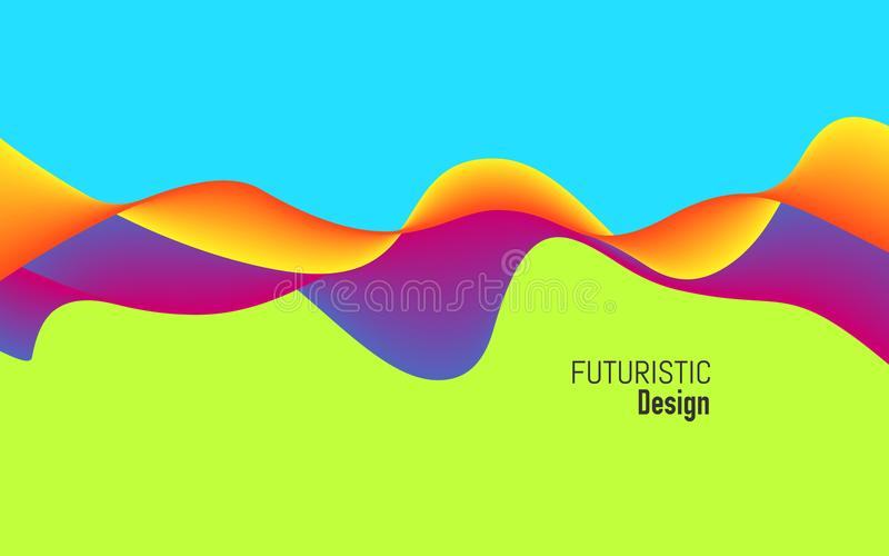 Modern background with dynamic effect. Bright design with trendy colors. Colorful concept for website, poster royalty free illustration