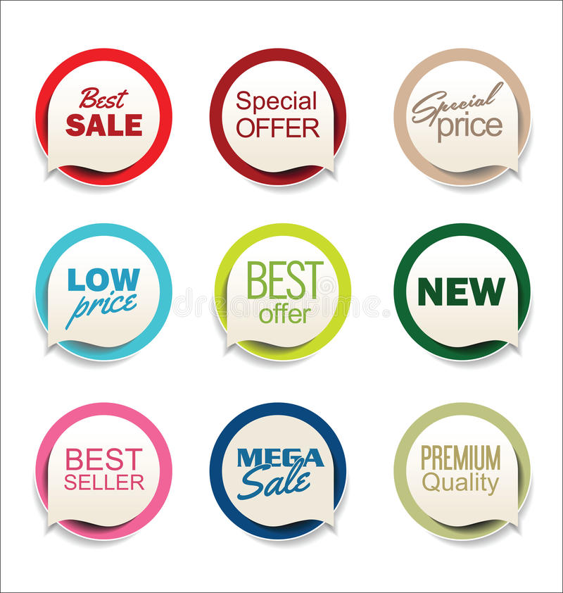 Modern badges and labels collection. Vector royalty free illustration
