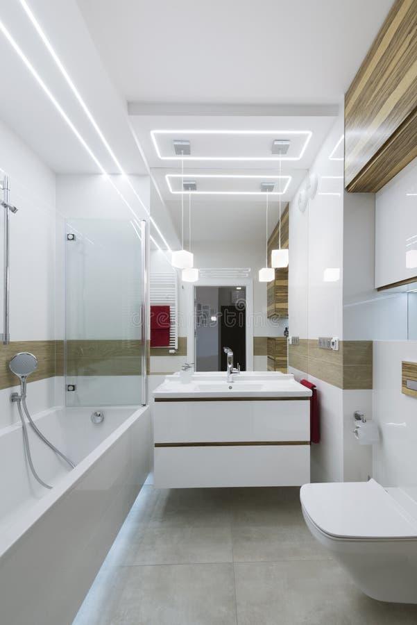 Modern badkamers binnenlands ontwerp royalty-vrije stock foto