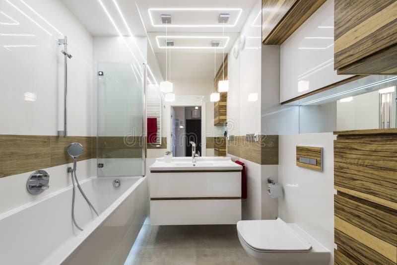 Modern badkamers binnenlands ontwerp royalty-vrije stock afbeelding