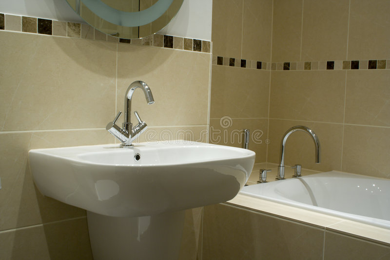 modern badrumformgivare royaltyfria foton