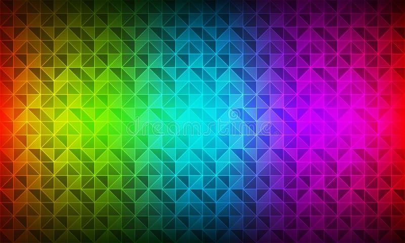 Modern bakgrund för färgspektrum, geometrisk textur för polygon, triangulär mosaik, moderna idérika designmallar royaltyfri illustrationer