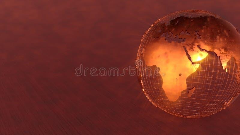 Modern bakgrund för jord 3D arkivfoto