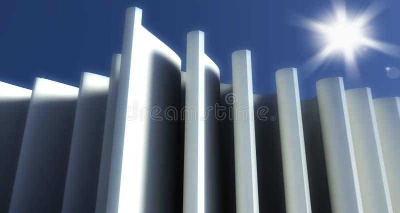 modern bakgrund för arkitektur 3d stock illustrationer