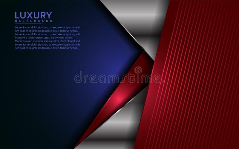 Modern bakgrund f?r patriot med ?verlappningslagret vektor illustrationer