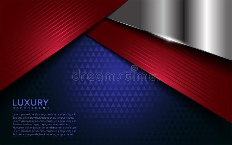 Modern bakgrund f?r patriot med ?verlappningslagret royaltyfri illustrationer