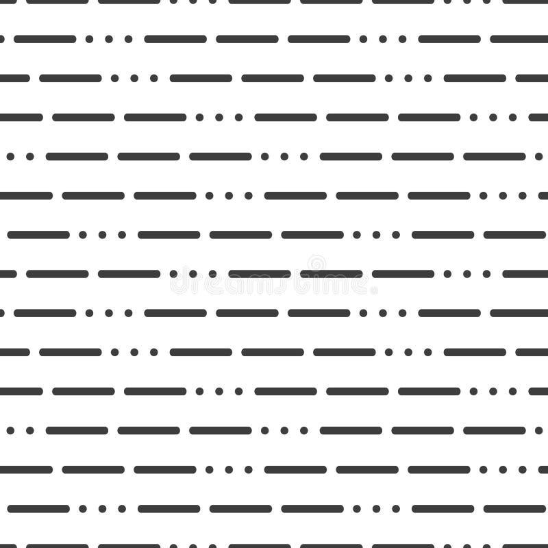 Modern bakgrund med linjer och prickar på en vit bakgrund stock illustrationer