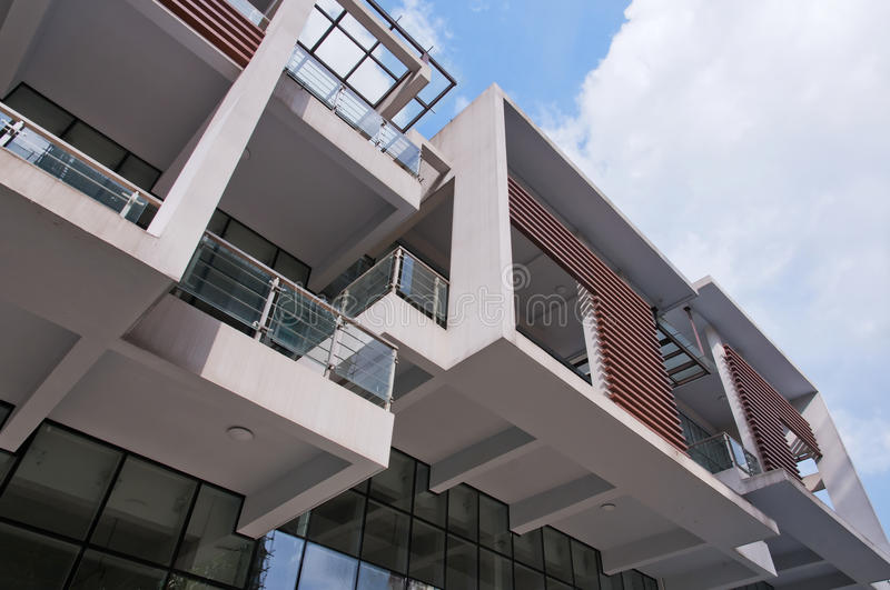 Download Modern  Balcony stock image. Image of development, curves - 25499735