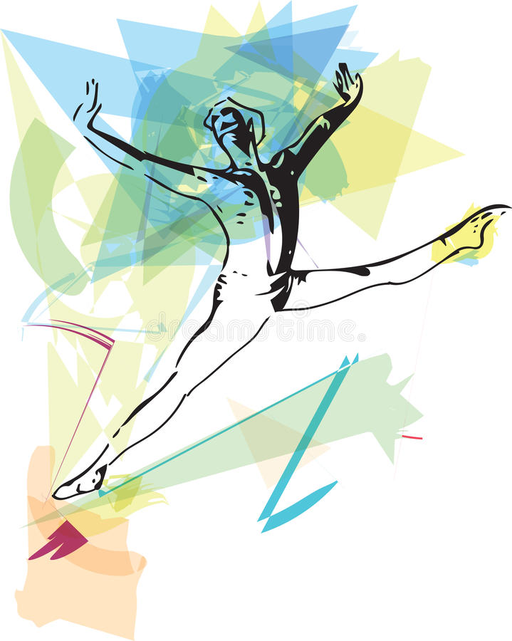 Modern ballet dancer man stock illustration