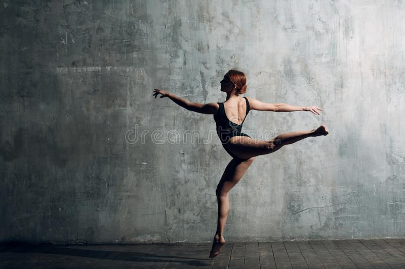 Modern ballet, great design for any purposes. Ballet dancer ballerina. Balance training. Classical choreography style. Beautiful d stock images