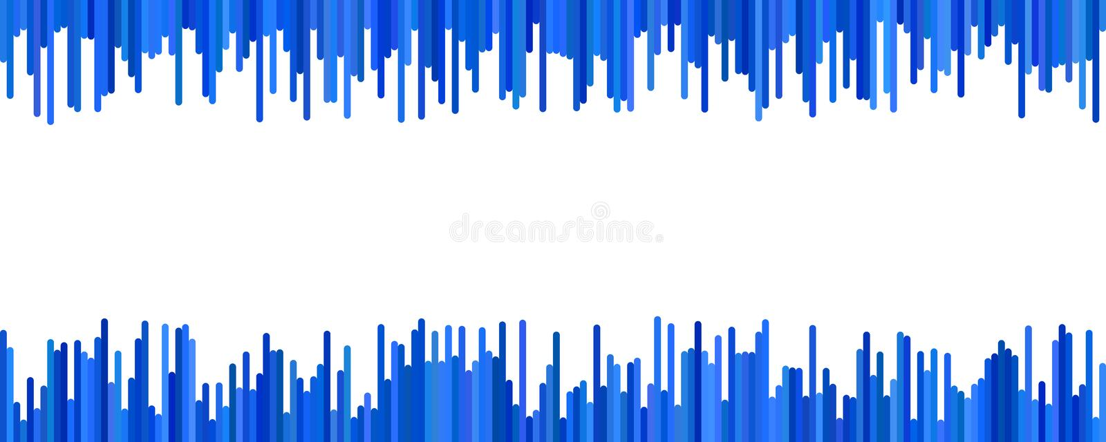 Modern banner background template design - horizontal vector graphic from vertical lines royalty free illustration