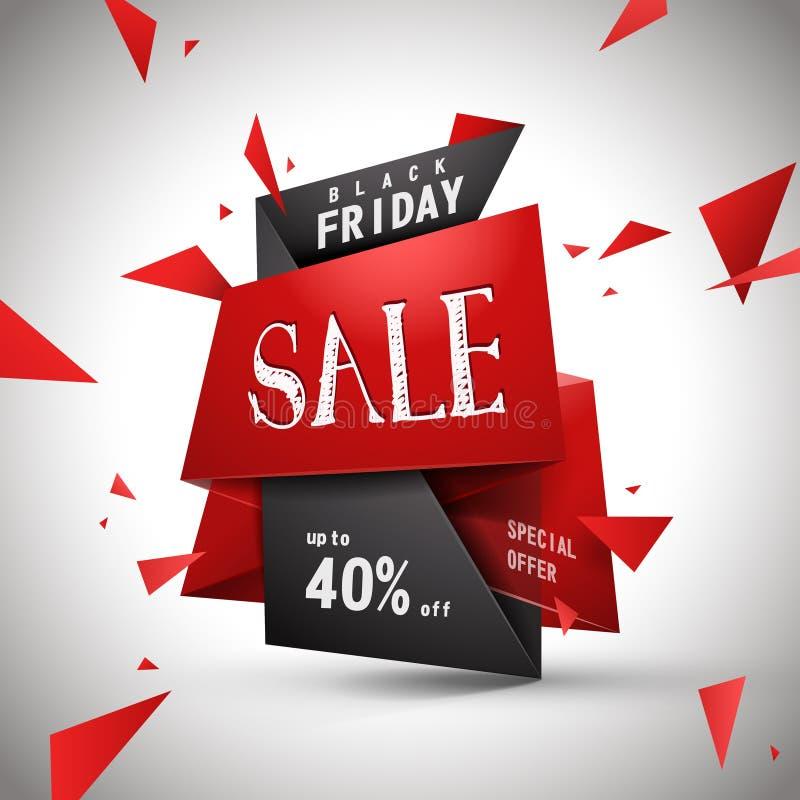 Modern bargain sale poster. Design with discount label stock illustration