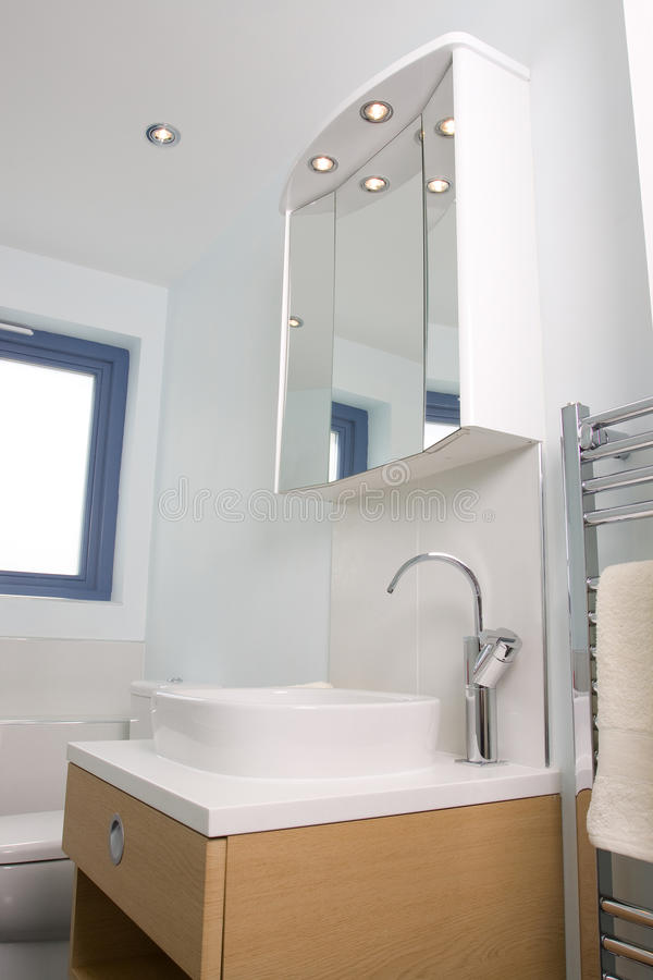 Modern bathroom. A contemporary designer bathroom in a new property development royalty free stock images