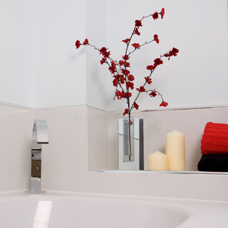 Modern bathroom. A contemporary designer bathroom in a new property development royalty free stock photography