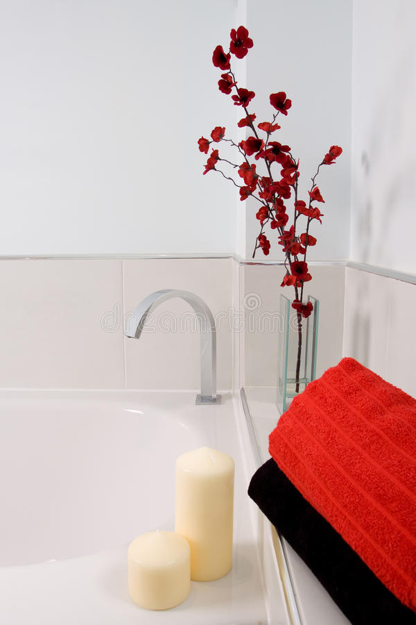 Modern bathroom. A contemporary designer bathroom in a new property development royalty free stock photos
