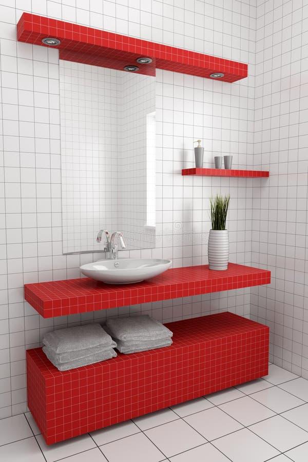Modern bathroom stock illustration