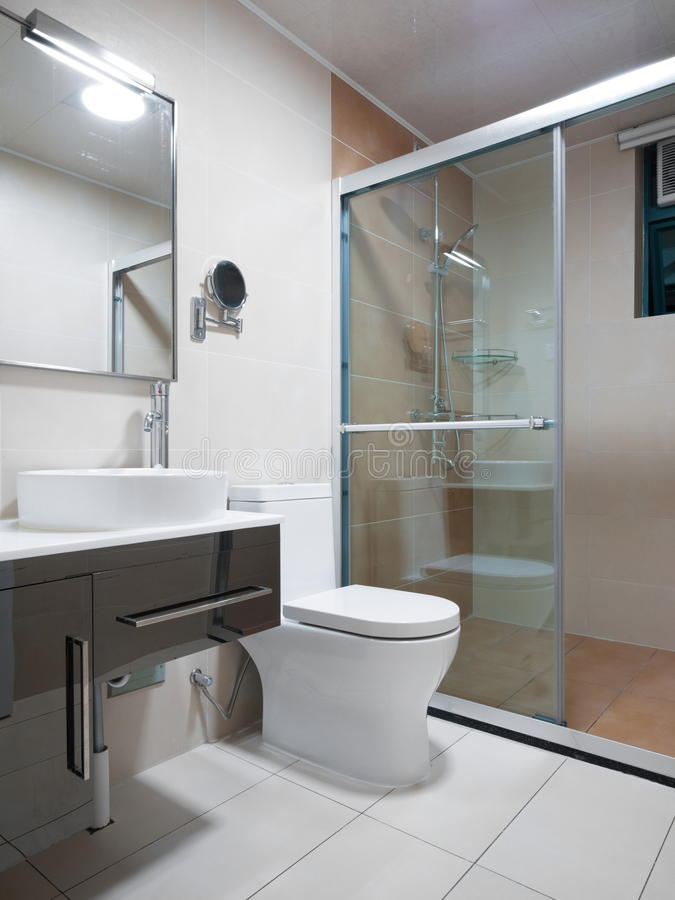 Download Modern bathroom stock image. Image of apartment, nobody - 12513827