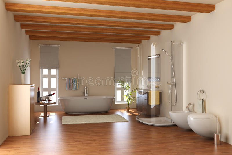 Modern bathroom vector illustration