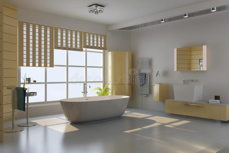 Modern bathroom royalty free illustration