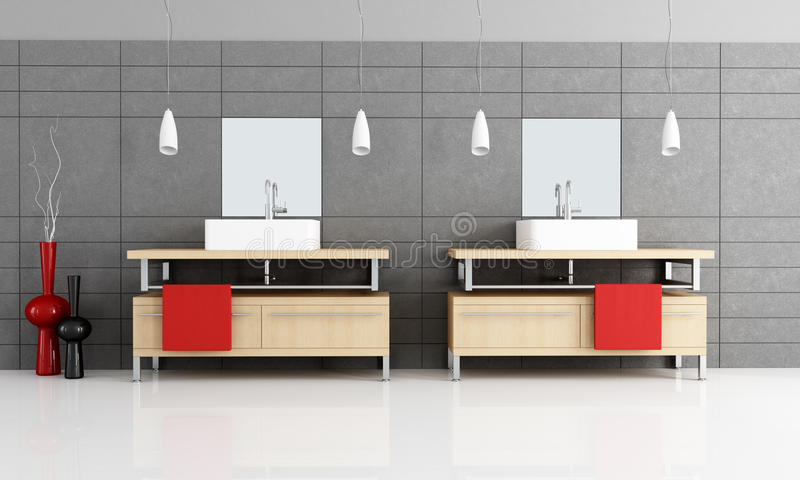 Modern bathroom stock illustration